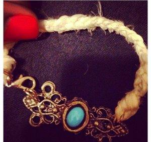 Braided Silk Bracelet in White