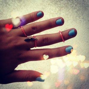 Pink Ring Set