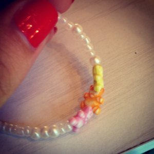 'Baby Bear' Bracelet in White