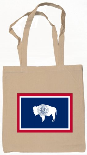Wyoming State Flag Tote Bag