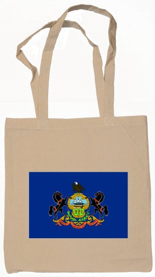 Pennsylvania State Flag Tote Bag