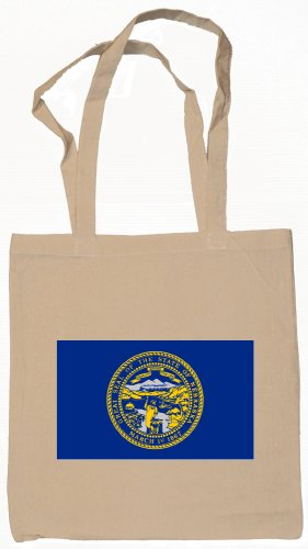 Nebraska State Flag Tote Bag