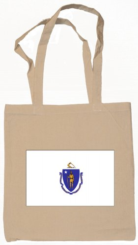 Massachusetts State Flag Tote Bag
