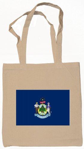 Maine State Flag Tote Bag