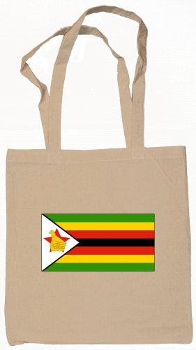 Zimbabwe Flag Souvenir Canvas Tote Bag Shopping School Sports Grocery Eco