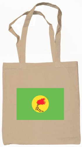 Zaire Zairian Flag Souvenir Canvas Tote Bag Shopping School Sports Grocery Eco