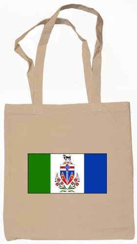 Yukon Territory Canada Flag Souvenir Canvas Tote Bag Shopping School Sports Grocery Eco