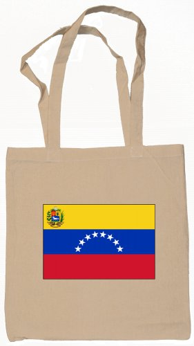 Venezuela Venezuelan Flag Souvenir Canvas Tote Bag Shopping School Sports Grocery Eco