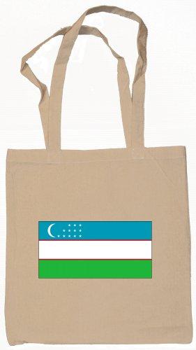 Uzbekistan Uzbekistanian Flag Souvenir Canvas Tote Bag Shopping School Sports Grocery Eco