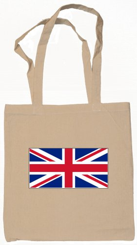 United Kingdom Flag Souvenir Canvas Tote Bag Shopping School Sports Grocery Eco