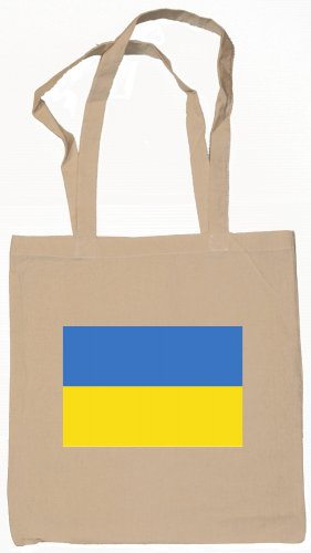 Ukraine Ukrainian Flag Souvenir Canvas Tote Bag Shopping School Sports Grocery Eco