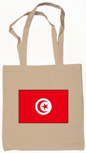 Tunisia Tunisian Flag Souvenir Canvas Tote Bag Shopping School Sports Grocery Eco