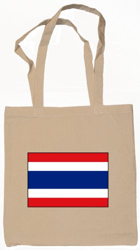 Thailand Thai Flag Souvenir Canvas Tote Bag Shopping School Sports Grocery Eco