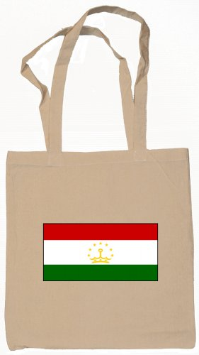 Tajikistan Tajikistani Flag Souvenir Canvas Tote Bag Shopping School Sports Grocery Eco