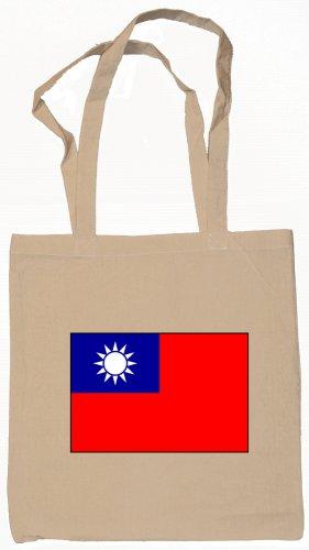 Taiwan Taiwanese  Flag Souvenir Canvas Tote Bag Shopping School Sports Grocery Eco