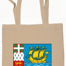 Saint Pierre and Miquelon Flag Souvenir Canvas Tote Bag Shopping School Sports Grocery Eco