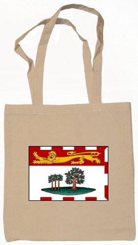 Prince Edward Island Canada Flag Souvenir Canvas Tote Bag Shopping School Sports Grocery Eco