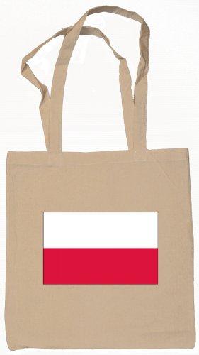 Poland Polish Flag Souvenir Canvas Tote Bag Shopping School Sports Grocery Eco