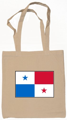 Panama Panamanian Flag Souvenir Canvas Tote Bag Shopping School Sports Grocery Eco