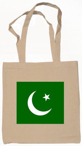 Pakistan Pakistani Flag Souvenir Canvas Tote Bag Shopping School Sports Grocery Eco