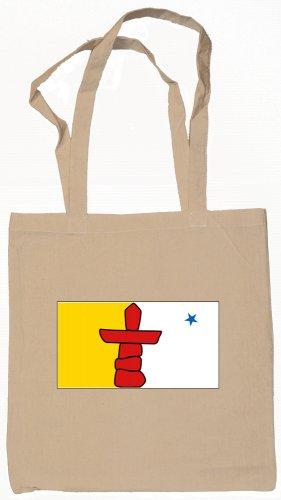 Nunavut Canada Flag Souvenir Canvas Tote Bag Shopping School Sports Grocery Eco