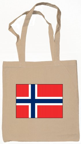 Norway Norwegian Flag Souvenir Canvas Tote Bag Shopping School Sports Grocery Eco
