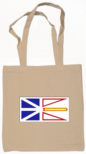 Newfoundland and Labrador Canada Flag Souvenir Canvas Tote Bag Shopping School Sports Grocery Eco