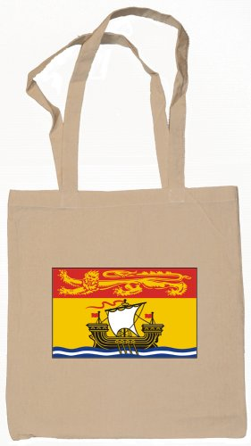 Canadian Province New Brunswick Flag Souvenir Canvas Tote Bag Shopping School Sports Grocery Eco