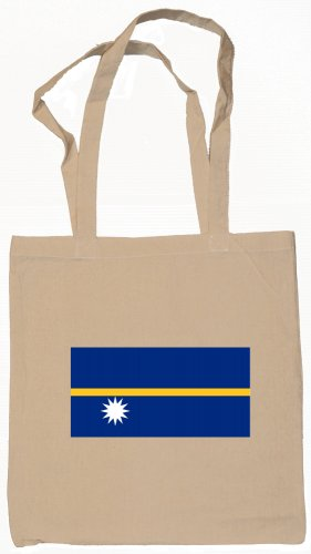 Nauru Nauruan Flag Souvenir Canvas Tote Bag Shopping School Sports Grocery Eco