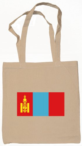 Mongolia Mongolian Flag Souvenir Canvas Tote Bag Shopping School Sports Grocery Eco