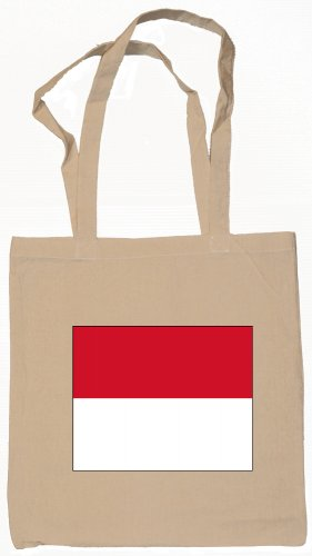 Monaco Flag Souvenir Canvas Tote Bag Shopping School Sports Grocery Eco