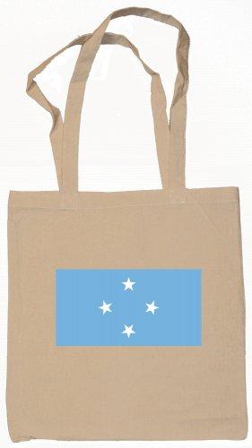 Micronesia Micronesian Flag Souvenir Canvas Tote Bag Shopping School Sports Grocery Eco