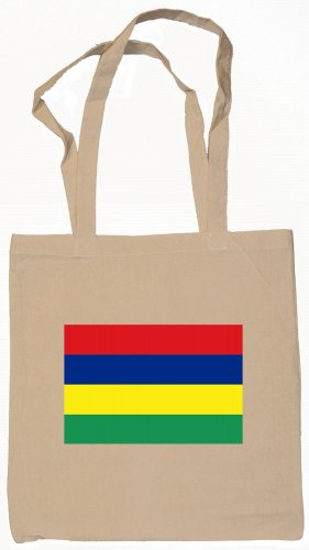 Mauritius  Flag Souvenir Canvas Tote Bag Shopping School Sports Grocery Eco