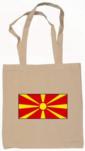 Macedonia Macedonian Flag Souvenir Canvas Tote Bag Shopping School Sports Grocery Eco