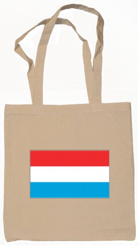 Luxembourg Flag Souvenir Canvas Tote Bag Shopping School Sports Grocery Eco