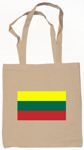 Lithuania Lithuanian  Flag Souvenir Canvas Tote Bag Shopping School Sports Grocery Eco