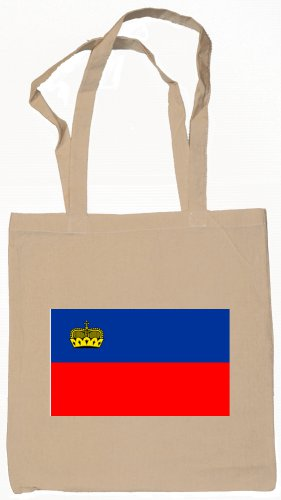 Liechtenstein  Flag Souvenir Canvas Tote Bag Shopping School Sports Grocery Eco