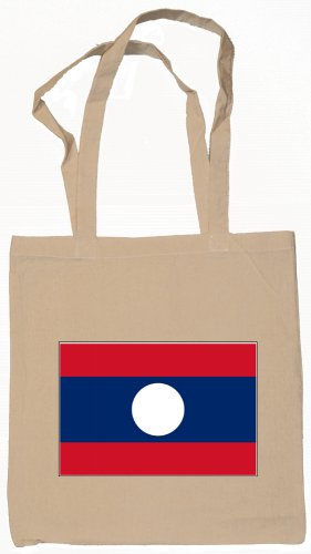 Laos Laotian   Flag Souvenir Canvas Tote Bag Shopping School Sports Grocery Eco