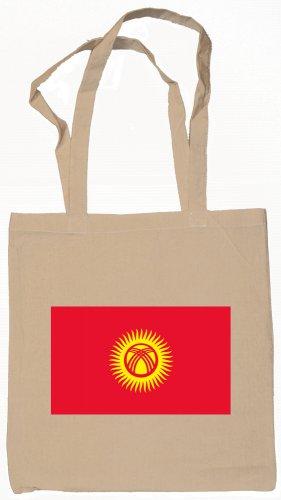Kyrgyzstan Kyrgyzstani  Flag Souvenir Canvas Tote Bag Shopping School Sports Grocery Eco