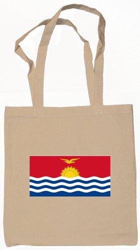 Kiribati Flag Souvenir Canvas Tote Bag Shopping School Sports Grocery Eco