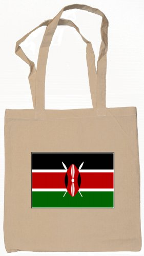 Kenya Kenyan Flag Souvenir Canvas Tote Bag Shopping School Sports Grocery Eco