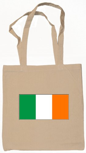 Ireland Irish Flag Souvenir Canvas Tote Bag Shopping School Sports Grocery Eco