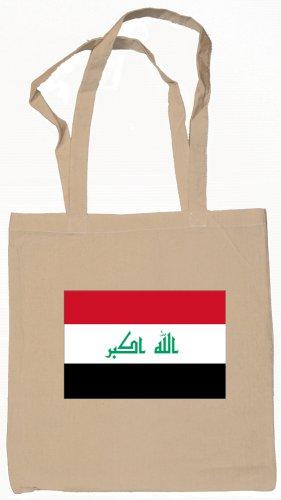 Iraq Iraqi Flag Souvenir Canvas Tote Bag Shopping School Sports Grocery Eco