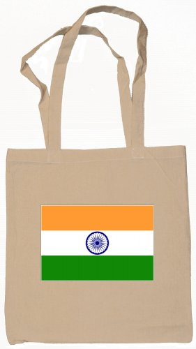 India Indian Flag Souvenir Canvas Tote Bag Shopping School Sports Grocery Eco