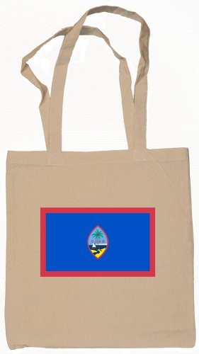 Guam  Flag Souvenir Canvas Tote Bag Shopping School Sports Grocery Eco