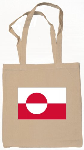 Greenland Flag Souvenir Canvas Tote Bag Shopping School Sports Grocery Eco