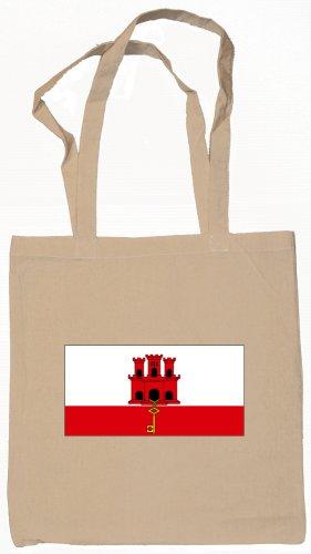 Gibraltar Flag Souvenir Canvas Tote Bag Shopping School Sports Grocery Eco