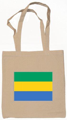 Gabon Gabonese Flag Souvenir Canvas Tote Bag Shopping School Sports Grocery Eco