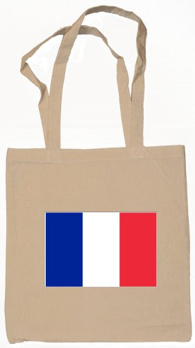 France French Flag Souvenir Canvas Tote Bag Shopping School Sports Grocery Eco