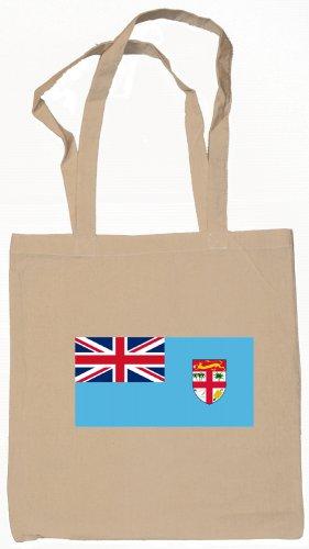 Fiji Fijian Flag Souvenir Canvas Tote Bag Shopping School Sports Grocery Eco